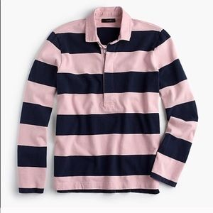 j crew polo 1984 rugby shirt women size L